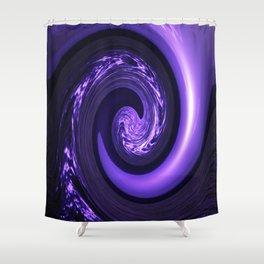Spiral Vortex Purple G200 Shower Curtain