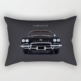 Black Vette Rectangular Pillow