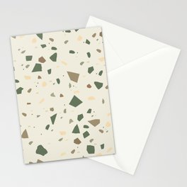 Sage Cactus Green Tan Brown Terrazzo #1 #decor #art #society6 Stationery Cards