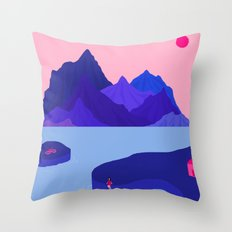 Mountain Hike//Missing Bike Throw Pillow