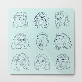 emotions: blue Metal Print