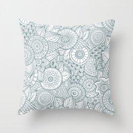 Pattern flower Throw Pillow