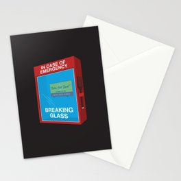 Breaking Glass Stationery Cards