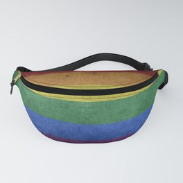 LGBTQ Rainbow Pride Flag (Weathered) Fanny Pack