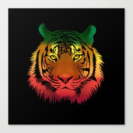 Jamaican Flag Tiger Canvas Print