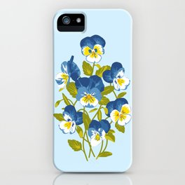 Blue Pansies iPhone Case