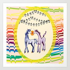 Unicorn Love Art Print