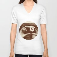 photographer V-neck T-shirts featuring Photographer by XfantasyArt