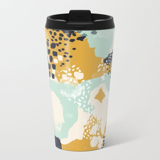 Tinsley - Abstract painting in bold, modern, bright colors Metal Travel Mug