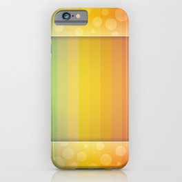 Colorful Rainbow Striped and Polka Dot Spectrum iPhone Case