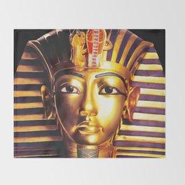 King Tutankhamun Throw Blanket