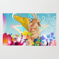 baphomet Area & Throw Rugs featuring Baphomet by rodalume