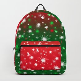 Christmas Variegated Red and Green Star Glow Backpack