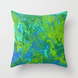 Paint Pouring 36 Throw Pillow