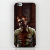 teacher iPhone & iPod Skins featuring Zombie Teacher by Brett Fitzpatrick