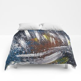 Cosmic blue space Comforters