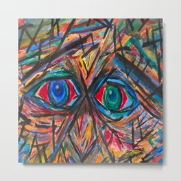 Unsettled Eyes Metal Print