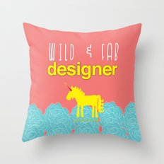 Design and Be Awesome! Throw Pillow