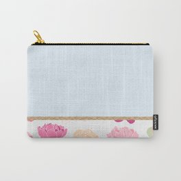 Duck egg blue peony Carry-All Pouch