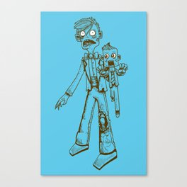 Zombie Ventriloquist by RonkyTonk Canvas Print