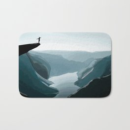 Dive from the cliff Bath Mat