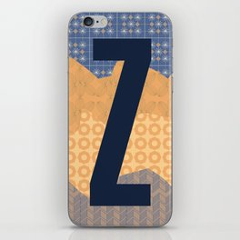 The Zany Letter Z iPhone Skin