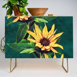Watercolor sunflowers Credenza