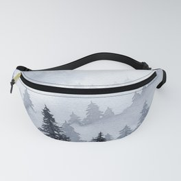 Misty Forest Watercolor Fanny Pack