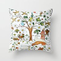 medieval Throw Pillows featuring MEDIEVAL by oxana zaika