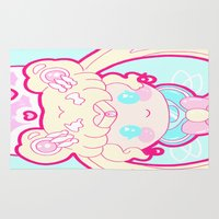 sailormoon Area & Throw Rugs featuring Marshmallow Sailormoon by Candy Castle