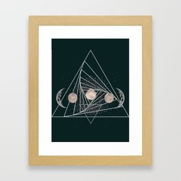 Moon Matrix Framed Art Print