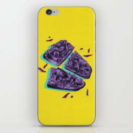 Favourite Food - Yellow by Chrissy Curtin iPhone Skin