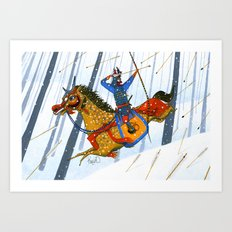 Year of the Horse 午 Art Print