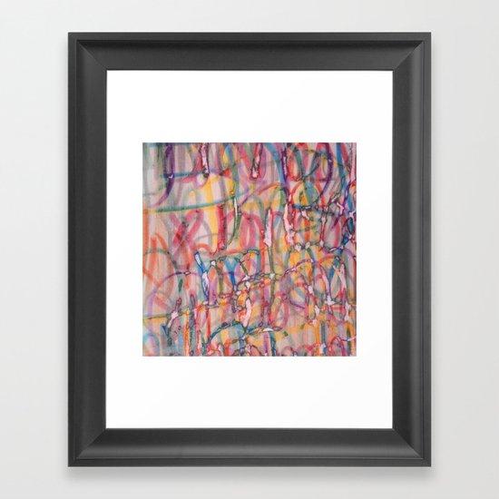 Screen Printed Text Framed Art Print