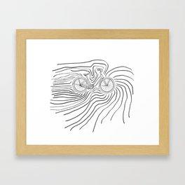 Gol Bike Framed Art Print