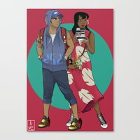 lilo and stitch Canvas Prints featuring Lilo & Stitch by Hyung86