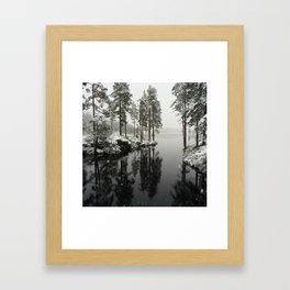 The first snow Framed Art Print
