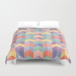 Colorful geometric blocks Duvet Cover