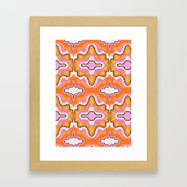 Orange Groove Framed Art Print