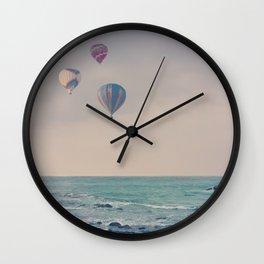 Balloons at Sea Wall Clock