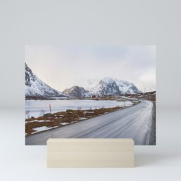 The road in the mountains Mini Art Print