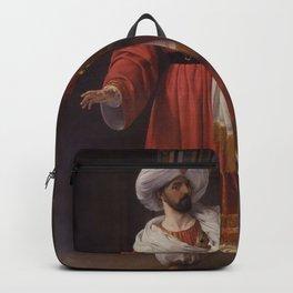 Francesco Hayez - Portrait of Giovanni David as Alessandro in Pacini's Gli arabi nelle Gallie Backpack