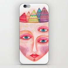 girl with the most beautiful eyes mask portrait iPhone Skin