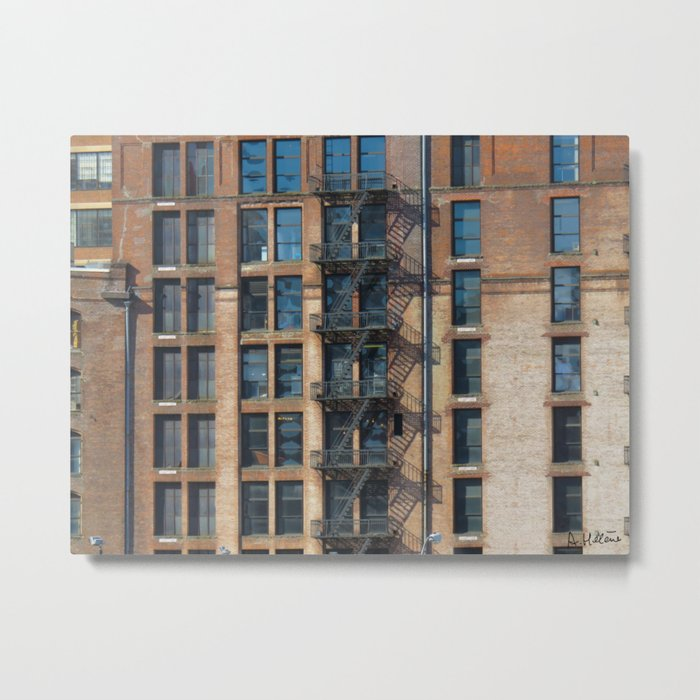 windows and stairs Metal Print