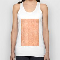 bed Tank Tops featuring Stockinette Orange by Elisa Sandoval