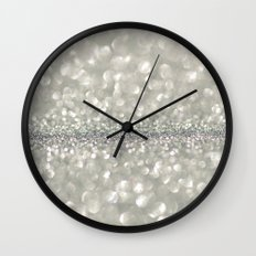 silver sparkle Wall Clock