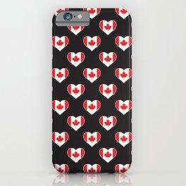 Canada Love flagMotif Repeat Pattern design background  iPhone Case