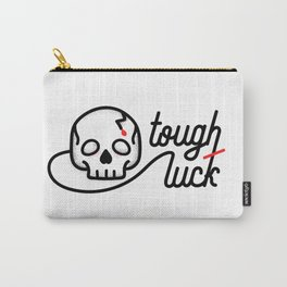 Tough Luck - illustrated skull typographic stippled artwork Carry-All Pouch