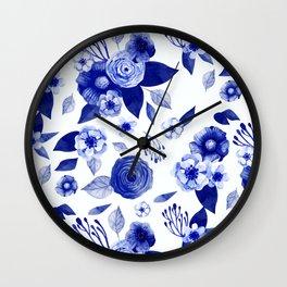 Flowers Print Wall Clock