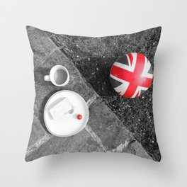 British Sunday - Still Life | Selective Red Throw Pillow
